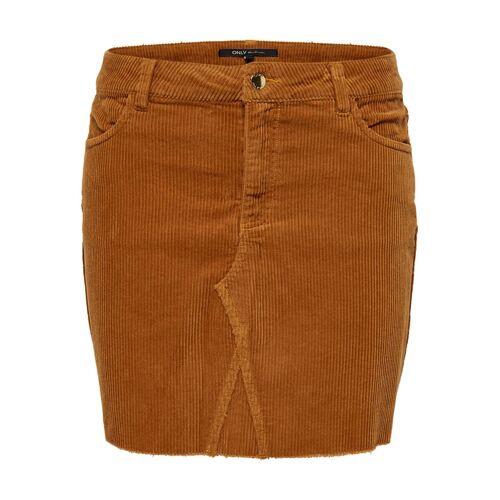 Only Bitten cord skirt  - Geel - Size: 40