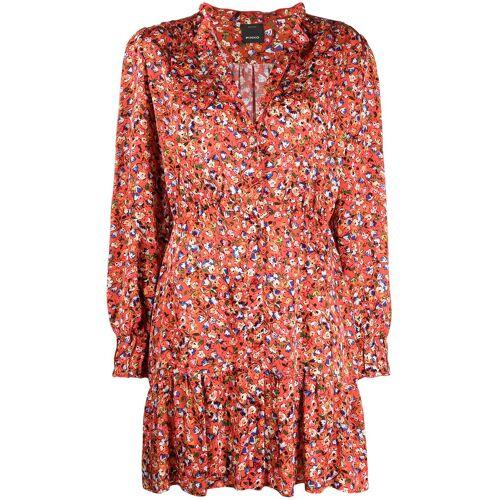 Pinko Bloemen jurk  - Rood - Size: 34