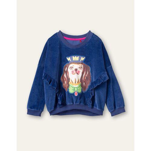 Oilily Hooi sweater-  - Blauw - Size: 116