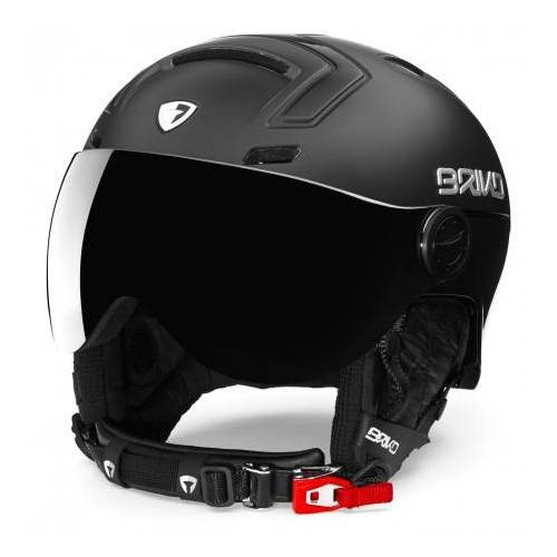 Briko Skihelm stromboli visor photo matt shiny black-59 -  - Zwart - Size: 64