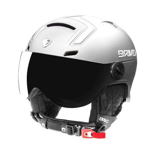 Briko Skihelm stromboli visor photo matt shiny white-59 -  - Wit - Size: 64