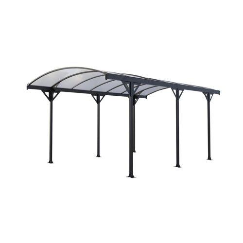 Unique Vrijstaande carport van aluminium GENARO - Grijs - 15,3 m²