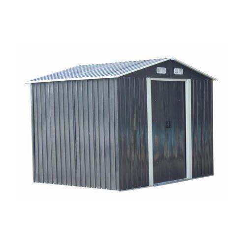 Unique Tuinhuisje van grijs gegalvaniseerd staal MANSO - 5,2m²