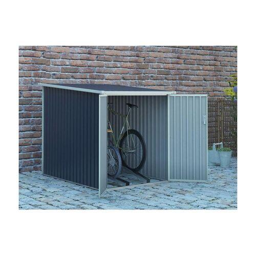 Unique Tuinhuisje voor fietsen van grijs gegalvaniseerd staal NIKI - 2,81 m²