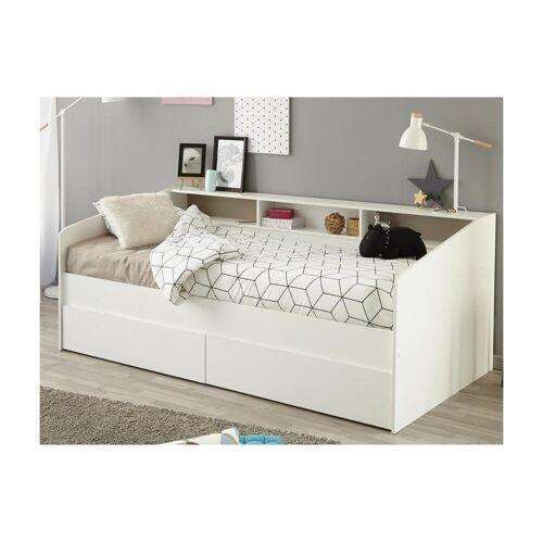 Unique Bed met opbergruimte PAULETTE - 90 x 200 cm - Wit