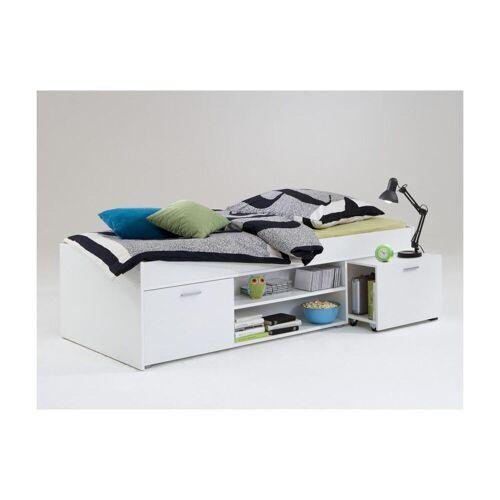 Unique Bed met opbergruimte ALORA - 90 x 200 cm - Wit