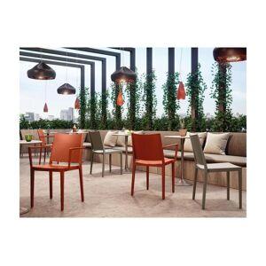 Unique Set van 2 opstapelbare stoelen TOXA met armleuning - Polypropyleen - Oranje