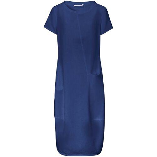 elemente clemente Dames Jurk 100% linnen korte mouwen Van elemente clemente blauw