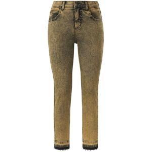 ANGELS Dames Skinny-7/8-jeans model Ornella Fringe Van ANGELS geel