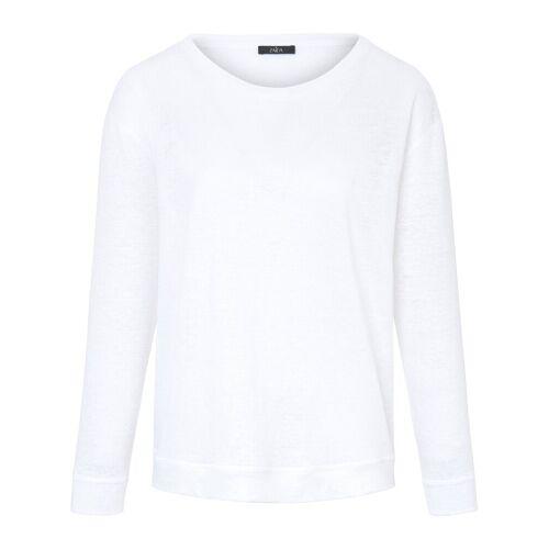 ZAIDA Dames Shirt 100% linnen ronde hals Van ZAIDA wit