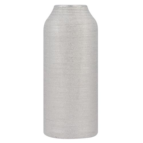 Beliani Decoratieve vaas zilver ASSOS