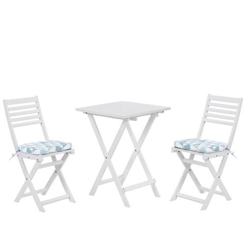 Beliani Balkonset wit/blauw FIJI