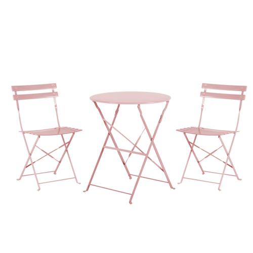 Beliani Balkonset roze FIORI