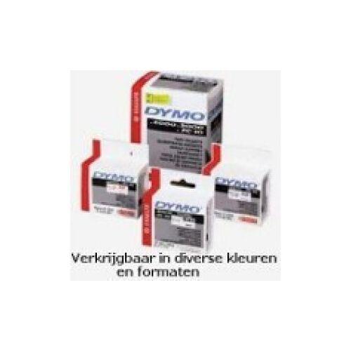 Dymo S0718490 Rhino Vinyltape 12mm, Zwart Op Oranje