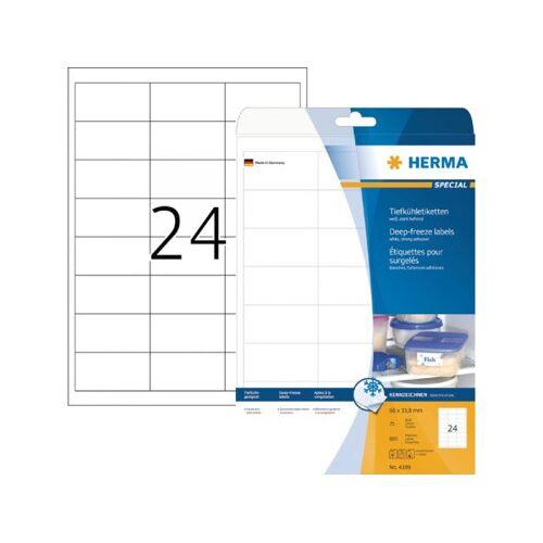 Herma Etiket Herma 4389 66x33.8mm Diepvries 600stuks Wit