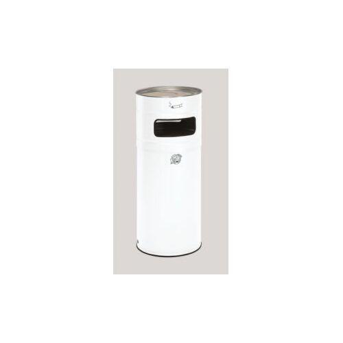 DiscountOffice Combi-Asbak 104 Liter HxØ 990x435mm Ral9016 Staal Asbak Aluminium