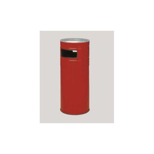Discountoffice Combi-Asbak 104 Liter HxØ 990x435mm Ral3000 Rood Staal Asbak Alu