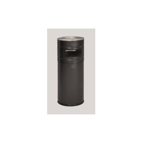 DiscountOffice Combi-Asbak 104 Liter HxØ 990x435mm Ral7021 Staal Asbak Aluminium