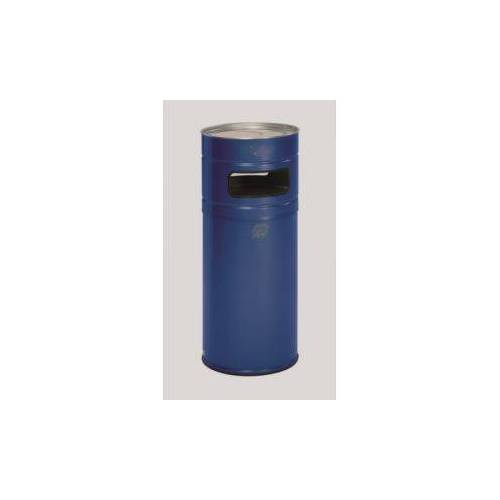 Discountoffice Combi-Asbak 104 Liter HxØ 990x435mm Afvalbak Ral5010 Blauw Asbak Alu