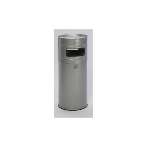 DiscountOffice Combi-Asbak 104 Liter HxØ 990x435mm Zilverkleurig Asbak Aluminium