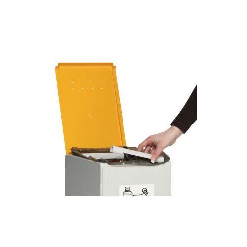 DiscountOffice Deksel Voor Afvalverzamelaar 40 Liter Geel