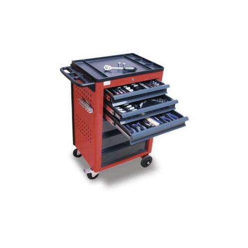 DiscountOffice Gereedschapswagen Met Gereedschapsassortiment 950x610x450mm 3 Laden