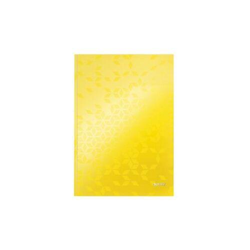 Leitz Notitieboek Leitz WOW A4 Lijn Geel