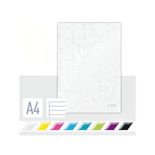 Leitz Notitieboek Leitz WOW A4 Lijn Wit