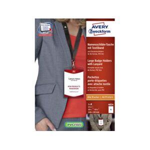 Avery Badge Avery 4834 A6 Hoes + Insteekkaarten 10 Stuks