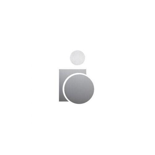 Discountoffice Deurbord Rolstoelrijder RVS Zelfklevend HxB 110x70mm