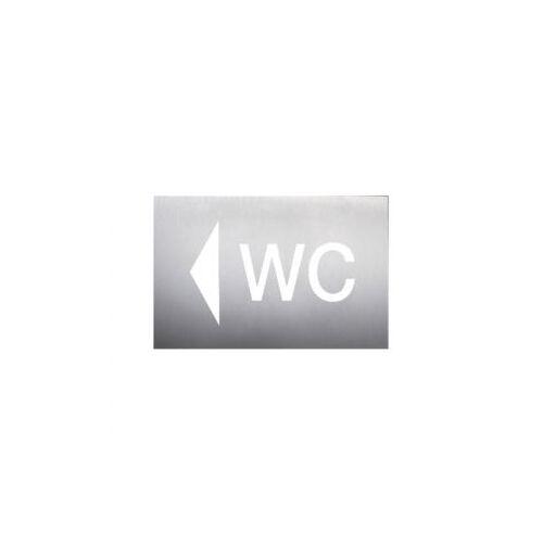 Discountoffice Wandbord WC Pijl Links RVS Zelfklevend HxB 160x235mm