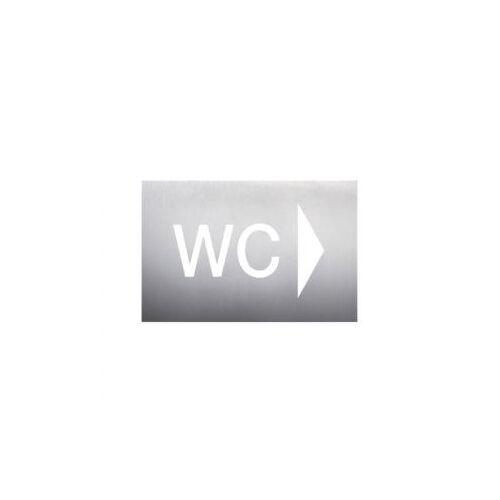 Discountoffice Wandbord WC Pijl Rechts RVS Zelfklevend HxB 160x235mm