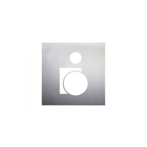 Discountoffice Deurbord Rolstoelrijder RVS Zelfklevend HxB 160x160mm