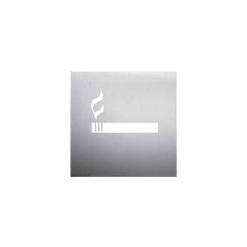 Discountoffice Deurbord Rokersgedeelte RVS Zelfklevend HxB 160x160mm