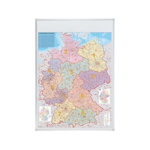 Franken Landkaartbord Pinbaar Duitsland Postcodekaart 98x138cm