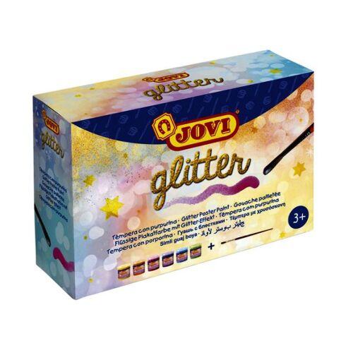 Jovi Plakkaatverf Jovi Glitter 55ml Set à 6 Kleuren Ass