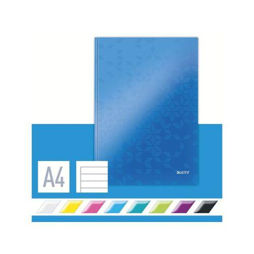 Leitz Notitieboek Leitz WOW A4 Lijn Blauw