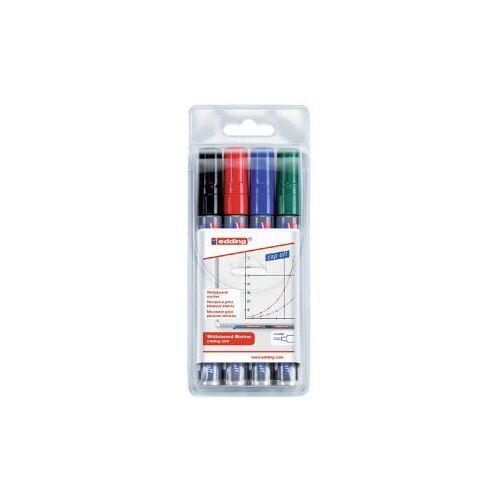 Edding Viltstift Edding 250 Whiteboard Rond Assorti 1.5-3mm 4stuks