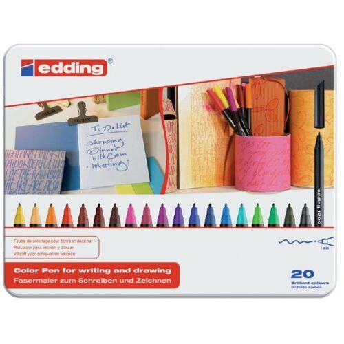 Edding Fineliner Edding 1200 Assorti 0.5-1.0mm Blik à 20 Stuks