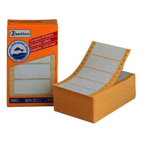Avery Etiket Avery Zweckform 3615 88.9x35.7mm 1-baans Wit 4000stuk