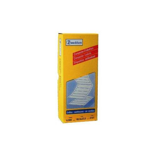 Avery Etiket Avery Zweckform 5101 88.9x23mm 1-baans Wit 6000stuks
