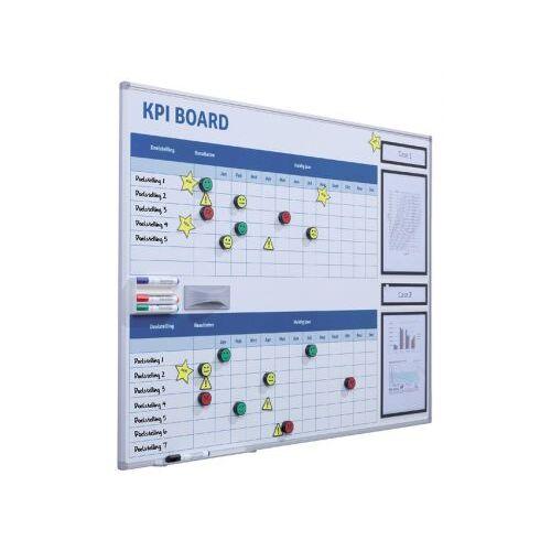 Smit Visual Kpi Bord + Starterkit Visual Management 90x120cm