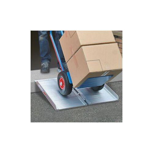 Discountoffice Inklapbare Oprijplaat LxB 600x700mm Draagverm. 270kg Aluminium