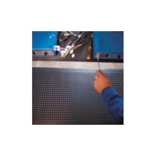 Discountoffice Werkplekmat LxB 6000x900mm PVC Zwart