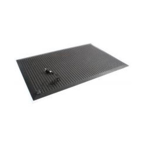 Discountoffice Werkplekmat Metergoed B 900mm PVC Zwart