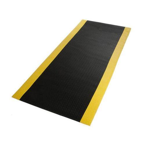 Discountoffice Werkplekmat Metergoed B 900mm PVC Zwart/geel