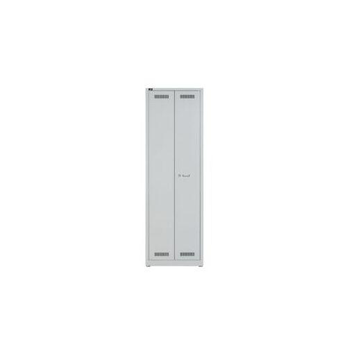 Discountoffice Bezemkast HxBxD 1950x600x500mm 4xStalen Bodem Scheidingswand Cil.-slot