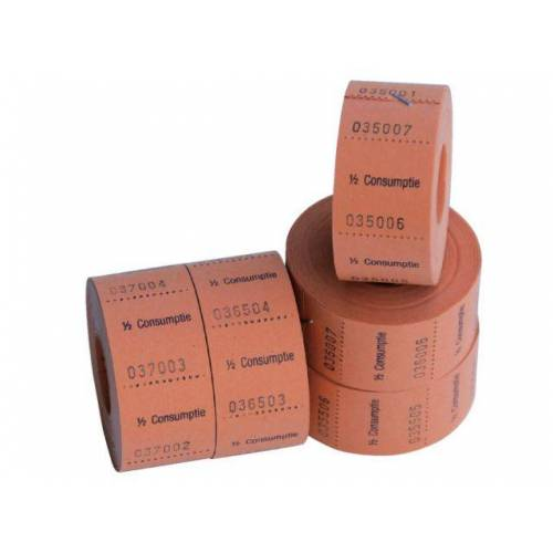 Discountoffice Consumptiebon Combicraft 1/2 Consumptie 500 Stuks Oranje