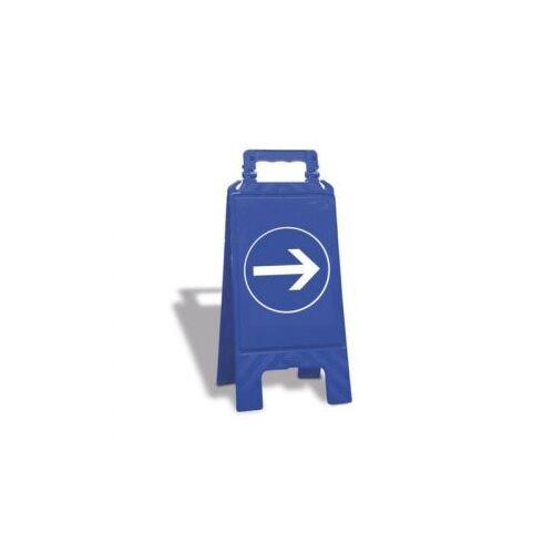 Discountoffice Gebodsbord Pijl Vloeropsteller Kunststof Blauw HxBxD 600x275x270mm