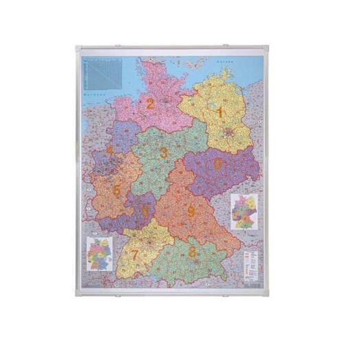 Franken Landkaartbord Duitsland, Postcodekaart 98x138cm